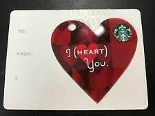 STARBUCKS Card 2014 Valentine's Day Mini Heart I Heart You - Free Shipping