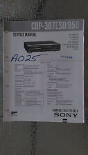 Sony cdp-307esd 950 Service Manual Original Book cd compact disc player stereo