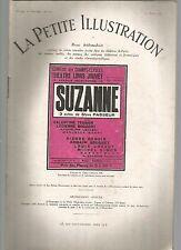 LA PETITE ILLUSTRATION N°227 - SUZANNE - PIECE EN 3 ACTES DE STEVE PASSEUR