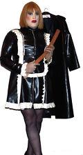 heavy black latex rubber maids uniform  48 50 chest TV & apron bdsm fetish