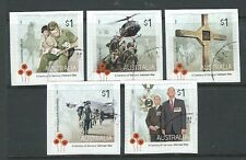 AUSTRALIA 2016 VIETNAM WAR SELF ADHESIVE SET  OF 5 FINE USED