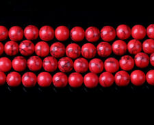 20Pcs Natural Red Turquoise Round Gemstone Beads Loose Spacer Bead Findings 10mm