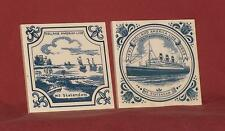 Delft Blue - Holland America Line - MS Stratendam - 2 Coaster, Trivets, Tiles