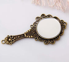 2pcs bronze plated mirror pendants 67x35mm 1A1370