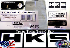 HKS TURBO TIMER BLACK TYPE-0 ZERO RED LCD Fits For Subaru Mitsubishi EVO WRX STi