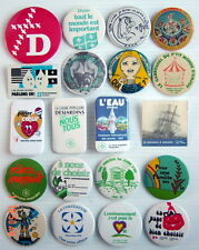 LOT OF 20 1970-80'S PIN BADGES FRENCH (MISCELLANEOUS)