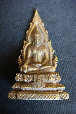 Miniature Bronze BUDDHA STATUE THAI GOD FIGURE AMULET MEDITATING