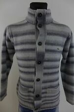 DC698 Men Lacoste Grey Wool Acrylic Button Front Cardigan Size 6 / XL