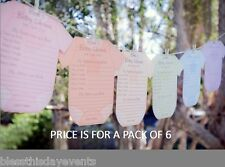 Baby Shower Game - Prediction and Advice Card Clothesline LARGE size - Pack of 6