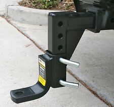MaxxTow 70067 Black 8-Position Adjustable Trailer Hitch New Free Shipping USA
