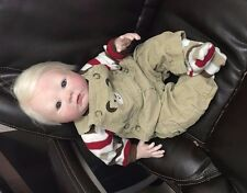 Lifelike reborn newborn blonde baby boy or girl Aubrey OOAK Baby Art Doll
