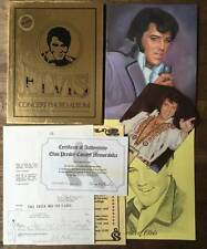 Elvis Presley Concert Photo Album Gold Box Set with COA  1977 Boxcar Ent.