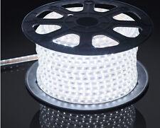 5M White 220V/110V High voltage 5050 led flexible strip light Waterproof+plug