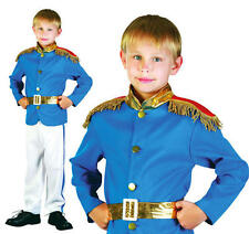 Childrens Blue Prince William Fancy Dress Costume Charming Boys Childs Outfit L