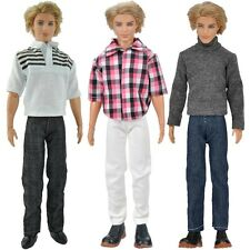 E-TING 3 Sets Doll Clothes Casual Wear Tops Pants Outfit For Barbie Ken Doll S
