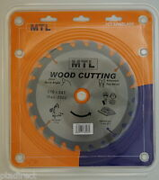 MTL brand 216mm x 24T x 30mm bore TCT Circular Mitre Chop Saw Blade for Wood