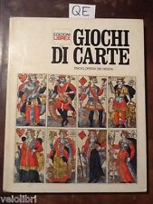 AA.vv. - GIOCHI DI CARTE. Enciclopedia dei giochi - Edzioni Librex 1969