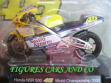 MOTO GP 1/18 HONDA NSR 500 # 46 COLLECTION  ROSSI WORLD CHAMPIONSHIP 2000