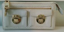 Marc Jacobs Zip Clutch Wallet Quilted Ivory w/Gold Hardware 100% Authentic