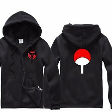 Anime Naruto Uchiha Sasuke Sharingan Clothing Sweater Hoodie Zip Sweatshirt Coat