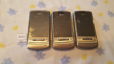 Lot of 3 LG KE970 for parts or repair ( Unknown Carrier )