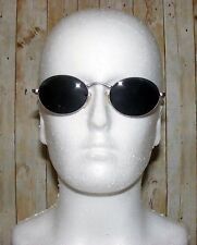 Vintage 90s deadstock oval/round sunglasses purple metal/clear matt arms (SG29)