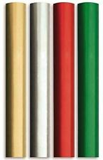 4X 8M Plain Metallic Foil effect Gift Wrapping Paper2m roll Silver,Red Gold GREN
