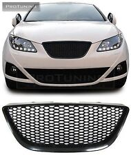 SEAT IBIZA 6J 08-12 BLACK BADGELESS FRONT GRILL GRILLE DEBADGED RS without logo