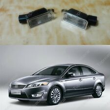2Pcs OEM License Plate Light Lamps w/Bulb Holders For Ford Mondeo Mk4 2007-2010