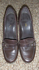 Nine West Brown Leather Pumps Size 10 (2837)