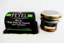 Bloc foie gras de canard con compota original hígados Feyel Francia!