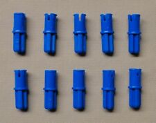 x10 NEW Lego Technic Axle Pin with Friction Ridges Lengthwise BLUE