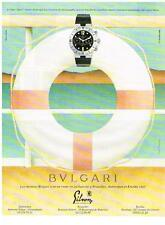 PUBLICITE   1995   BULGARI  collection MONTRE DE PLONGEE