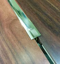Profilo T divisorio Ottone lucido parquet pavimento laminato brico cm 90 mm 14