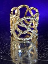 Authentic Disney Parks Ring Gold Tone Pave Set Crystals Fit for a Princess 10R