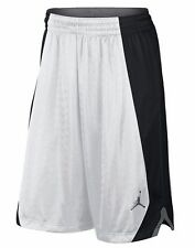 MEN'S NIKE JORDAN FLIGHT KNIT SHORTS BASKETBALL WHITE / BLACK SIZE 2XL 820645