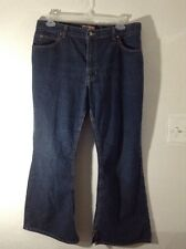 "Size 18 OLD NAVY 5 POCKET BLUE JEANS WOMENS DARK BLUE WASH 30"" INSEAM"
