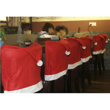 6pcs Santa Clause Red Hat Chair Back Covers for Christmas Dinner Decor HOT Sale
