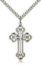 """.925 Sterling Silver Cross Necklace For Men On 24"""" Chain - 30 Day Money Back ..."""