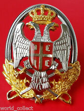 Excellent BIG Yugoslavia Serbia officer cap badge cockade medal