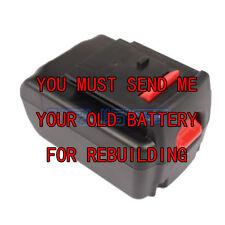 Rebuild service for PORTER-CABLE PC18BLEX 18-Volt Lithium-Ion battery 1.5 A/H