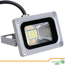 Mini Led Flood Light Cold White 10W IP65 Outdoor DC 12V Exterior - Grey