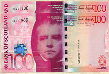 2007 Bank of Scotland £100 banknote UNC real Scottish money