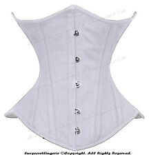 26 Steel Bones Waist Training Double Boned Twill Cotton Underbust Corset 450-TC