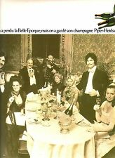 PUBLICITE ADVERTISING 034 1971 PIPER HEIDSIECK  champagne
