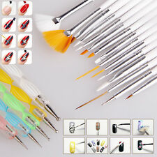 20pcs Nail Art Designing Painting Dotting Drawing Dot Pen Brushes Tool Kit Set