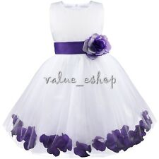 Petals Xmas Baby Princess Bridesmaid Flower Girl Dresses Wedding Formal Party