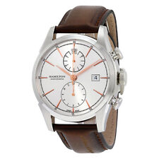 Hamilton Jazzmaster Spirit of Liberty Automatic Silver Dial Brown Leather Mens