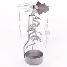 FLAMINGO TEA LIGHT SPINNER - FREE MATCH BOX FILE WITH EVERY ORDER - GIFT IDEA