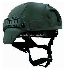 MICH 2000 Airsoft Tactical Hunting Combat Helmet with Side Rail NVG Mount OD